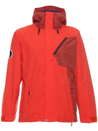 Volcom Between Snowboard Jacket Orange Mens Sz L