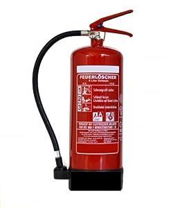 6L Schaum Feuerlöscher DIN, EN3, GS geprüft + ANDRIS® Instandhaltungsnachweis mit Jahresmarke