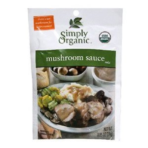 Simply Organic Mushroom Sauce Seasoning Mix Certified Organic 85 Ounce Packet Pack of 12