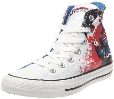 Converse chucks Superman HI white red white 119938 comic print, Größe:EUR 42