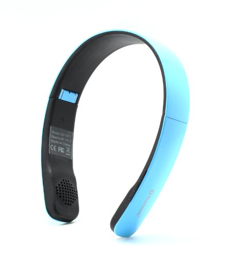 Suicen Sx-971 Folding Wireless Bluetooth V4.0 Stereo Universal Headset Headphone (Blue)