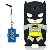 DD(TM) 3D Cute Lovely Stylish Black Batman Pattern Soft Silicone Back Case Cover Protective Skin for Samsung Galaxy S3 i9300 SIII