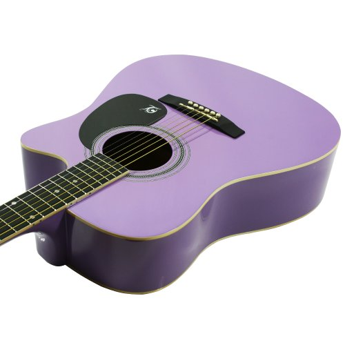 Lindo Apprentice Series Cutaway Acoustic Guitar with Carry Case - Purple Gloss