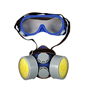 IIT Twin Cartridge Respirator with Safety Goggles