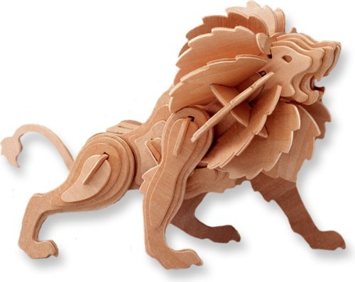 3-D Wooden Puzzle - Lion -Affordable Gift for your Little One! Item #DCHI-WPZ-E013