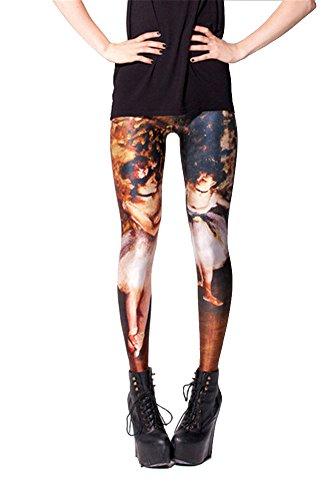 Women'S Fashion Digital Print Degas Two Dancers Pattern Sexy Leggings