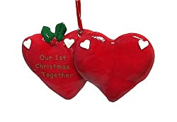 &quot;Our 1st Christmas Together&quot; Christmas Ornament To Personalize #21000
