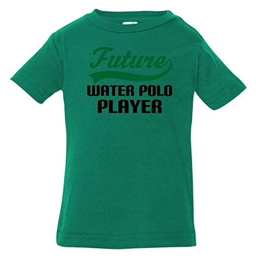 Inktastic Baby Boys' Future Water Polo Player Baby T-Shirt 6 Months Kelly Green