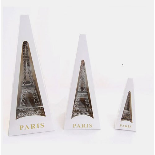Silver Eiffel Tower Paris France Statue, 38cm (15-inch)