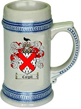 Cargill Family Crest Stein / Coat of Arms beer mug