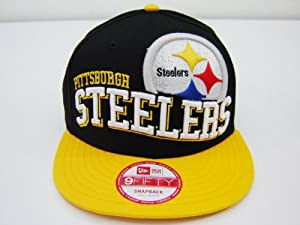 Era NFL Pittsburgh Steelers Split Block Retro 2 Tone Snapback Cap 9fifty Era