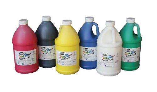 Sax True Flow Medium-Bodied Acrylic Paint - 1/2 Gallon - Set of 6 - Assorted Colors