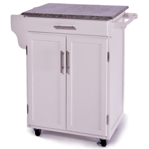Image of Torbay Two-door White Kitchen Island (B007233REY)