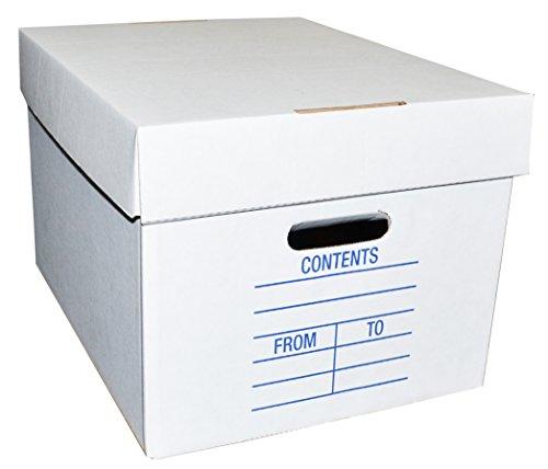 2 Piece White File Box 15 Quot X 12 Quot X 10 Quot 5 Boxes Rfb