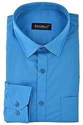 Edinwolf Men's Formal Shirt (EDFR728_42, Blue, 42)