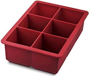 Tovolo King Cube Ice Trays, Red