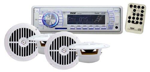 Pyle Plmrkt34Wt In-Dash Marine Am/Fm Pll Tuning Radio With Usb/Sd/Mmc Reader front-1039288