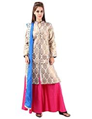 Imple Boutique Women's Banarasi Silk Salwar Suit Set (IBA-36)