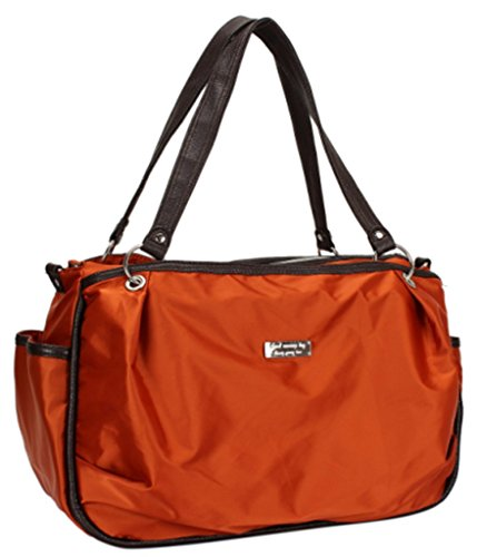 Landuo Women'S Baby Diaper Nappy Tote Bag Large Multifunctional Orange