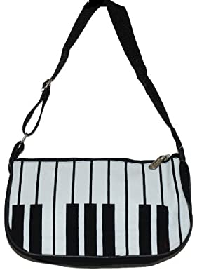 Black & White Piano Keyboard Handbag