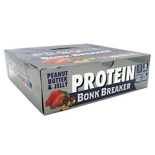 Bonk Breaker World's Best Energy Bar - High Protein Peanut Butter and Jelly 12 bars by Bonk Breaker