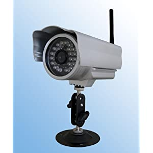 Outdoor Waterproof Wireless/wired Ip Camera with Night Vision and Motion Detection Alarm, Apple Mac and Windows compatible, Silver.