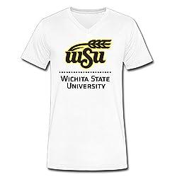 Wichita State University V-Neck Funny Shirts Tees Short Sleeve
