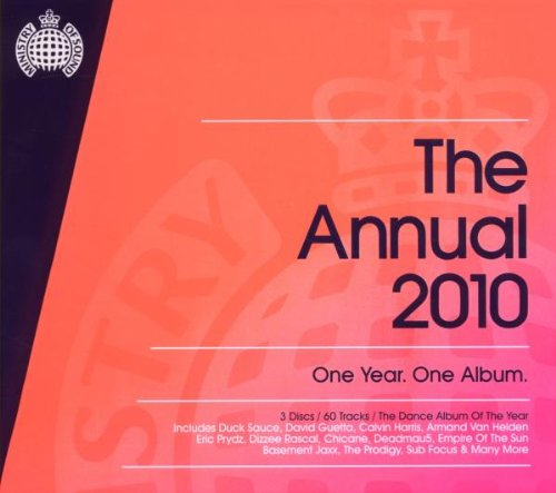 Ministry of Sound Annual 2010 Chicane, Deadmau5, Simian Mobile Disco, Paul Van Dyk various artists audio 2 cd set