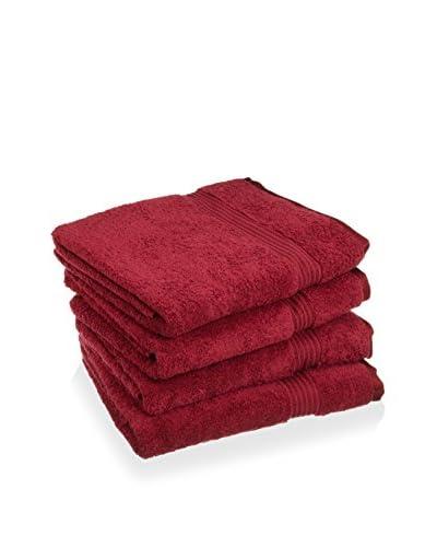 Superior 4-Piece 600 GSM Egyptian Cotton Bath Towel Set, Burgundy