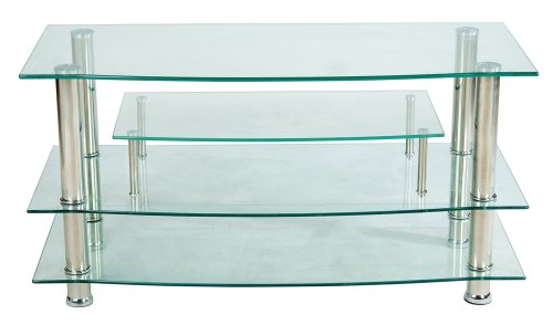 Home Source Industries TV4281 Modern TV Stand with Shelving for Components, Clear Glass picture B0032WRPYM.jpg