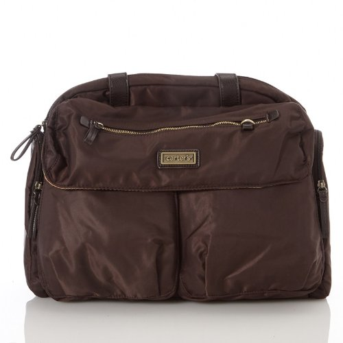 Carter's Brown Duffle Diaper Tote Bag