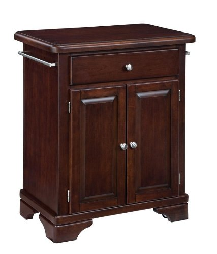 Cheap Kitchen Cart with Wood Top in Cherry Finish (VF_HY-9003-0071)
