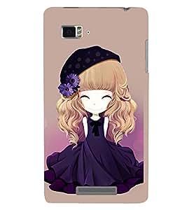 Printvisa Premium Back Cover Animated Girl With Blue Dress And Flowers In Hair Design For Lenovo Vibe Z K910