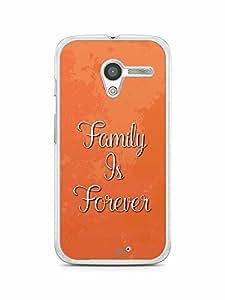 YuBingo Family is Forever Designer Mobile Case Back Cover for Motorola X