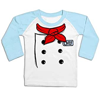 Chef Costume Long Sleeve Baby Baseball T-shirt