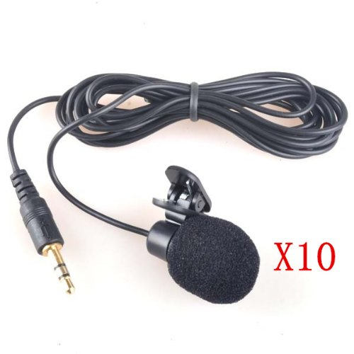 Neewer 10X 3.5Mm Hands Free Computer Clip On Mini Lapel Microphone (10X Lapel Microphone)