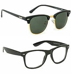 Redix New 2 in 1 combo TraditionaL Wayfarer Sunglasses
