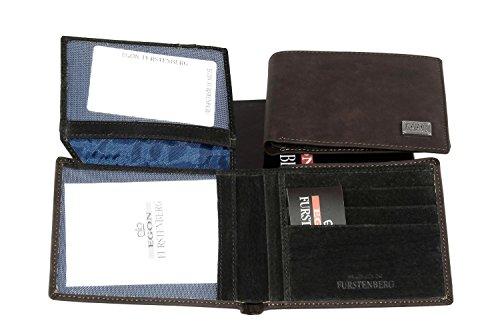 Portafoglio uomo EGON FURSTENBERG moro porta carte di credito con patta A4317