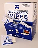 Zeiss Pre-Moistened Lens Cleaning Wipes - Cleans Bacteria, Germs and without Streaks for Eyeglasses and Sunglasses - (200 Count) by Zeiss