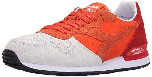 Diadora Men's Camaro Double II Skate Shoe, Mandarin Red/Tomato Red, 7.5 M US