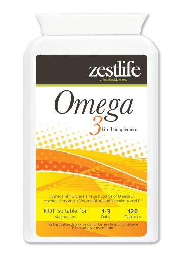 Ad alta resistenza Omega 3 olio di pesce   Fonte naturale di Omega 3 acidi grassi essenziali (EPA e DHA)   1000mg x 120 Capsule   Premium GMP Supplemento (aiuta a mantenere la salute della pelle, dei capelli , denti, gengive , ossa, articolazioni , sistema immunitario , sistema cardiovascolare e sistema nervoso) ** OFFERTA SPECIALE **