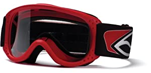 Smith Optics Junior MX Goggle (Youth Ages 3+, Red)