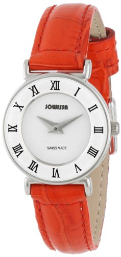 Jowissa Women's J2.092.S Roma Colori 24 mm Red Leather Roman Numeral Watch