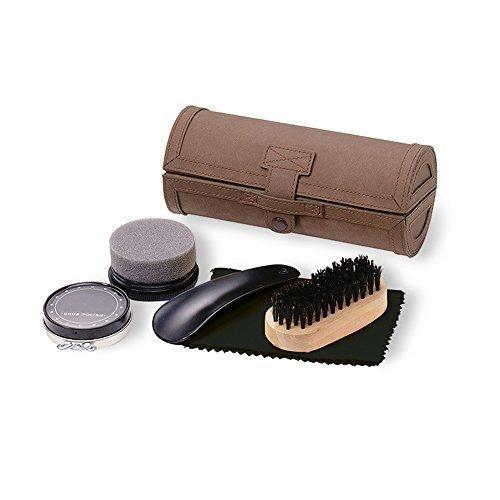 kit-polissage-chaussure-de-luxe-5-pieces-dans-etui-en-cuir-kit-entretien-de-voyage
