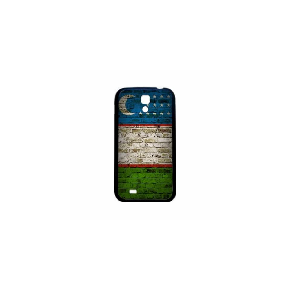 Uzbekistan Brick Wall Flag Samsung Galaxy S4 Black Silcone Case   Provides Great Protection