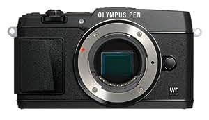 Olympus E-P5 Systemkamera (16 Megapixel MOS-Sensor, True Pic VI Prozessor, 5-Achsen Bildstabilisator, Verschlusszeit 1/8000s, Full-HD) Gehäuse schwarz