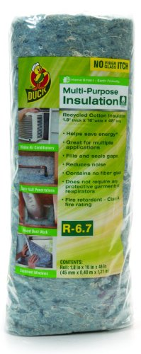 Duck Brand 280463 Multi-Purpose Cotton Insulation, 16-Inch by 48-Inch by 1.8-Inch
