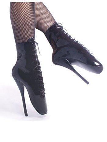 Sales BDSM 7 Inch Spike Heel Ballet Ankle Boots - 6
