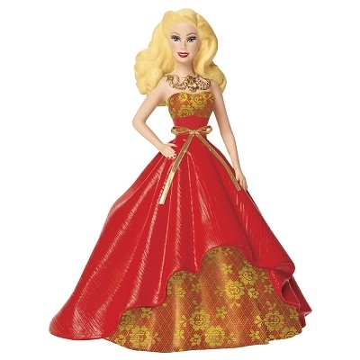 Carlton Cards Heirloom Holiday Barbie in Red and Gold Gown Christmas Ornament