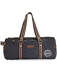 The House Of Tara Distressed Finish Travel/ Weekender/ Overniter/ Gym/ Duffle Bag (Midnight Blue) HTD 129